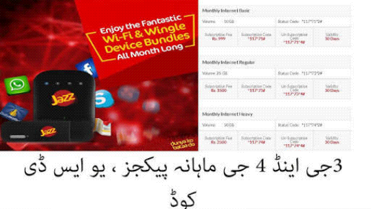 Mobilink Jazz New Best Monthly Pack In just Rs 60 Only Enjoy Full Month