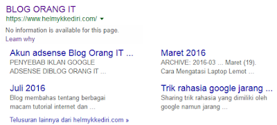 Cara mengatasi No information is available for this page