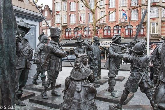 Rembrandtplein en Amsterdam
