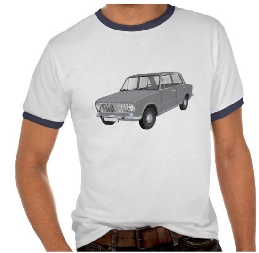 Fiat 124 shirt gray