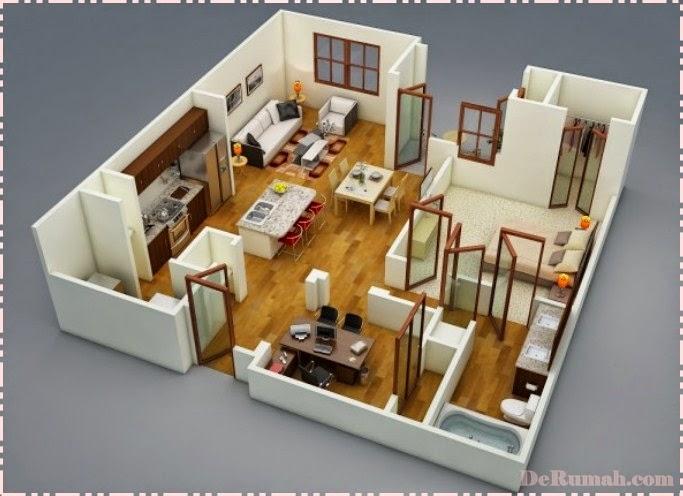 Desain Rumah Minimalis 1 Lantai 5 Kamar