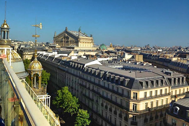Paris view from Printemps