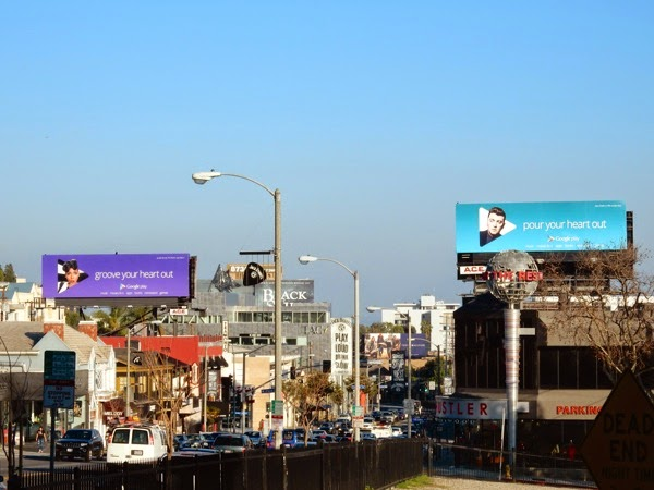 Google Play music billboards Sunset Strip 2015