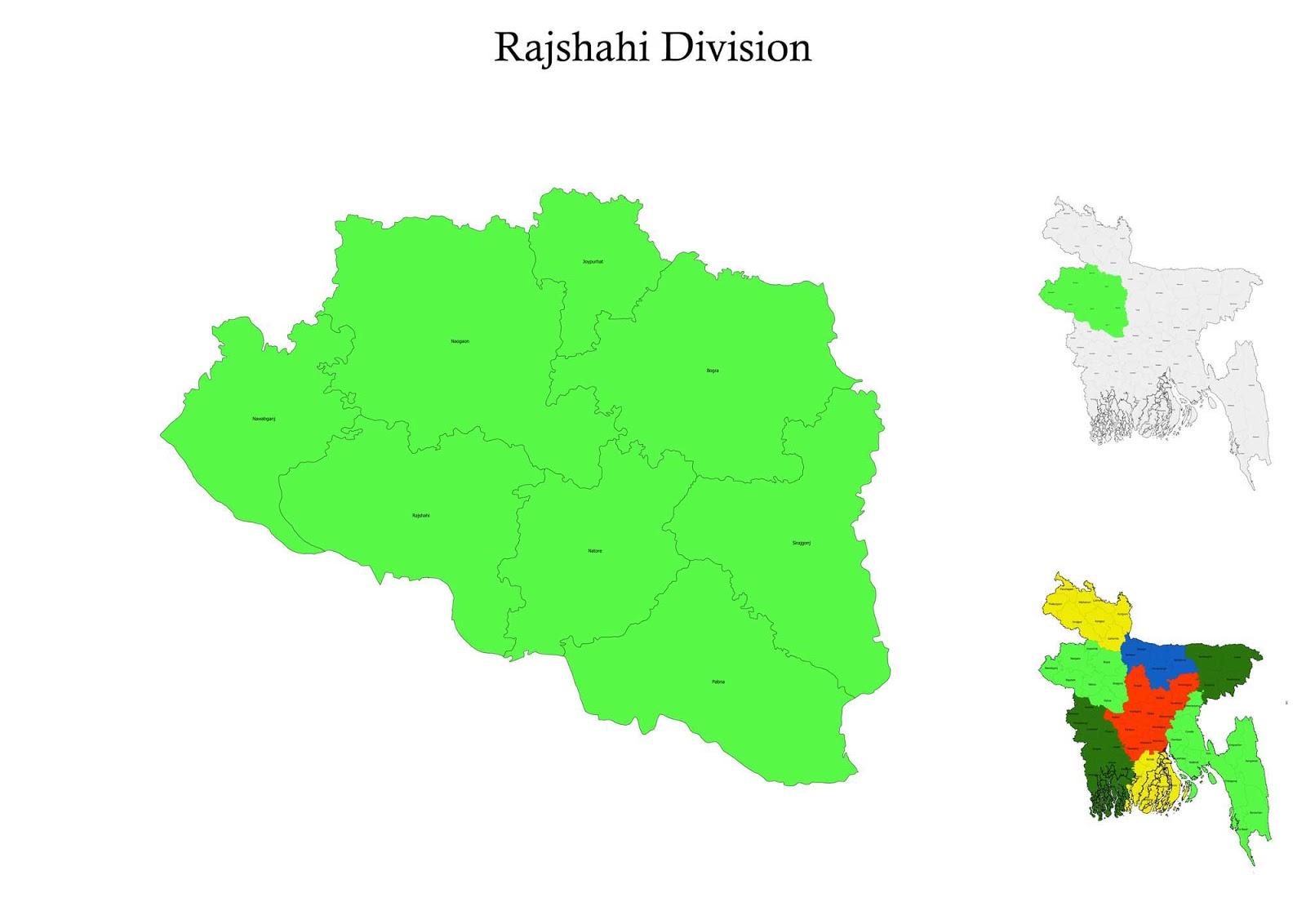 Rajshahi Division Map Bangladesh