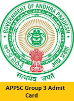 APPSC Group 3 Admit Card