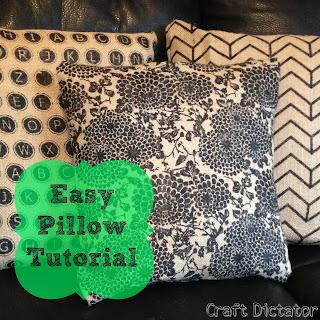 Easy Pillow Tutorial