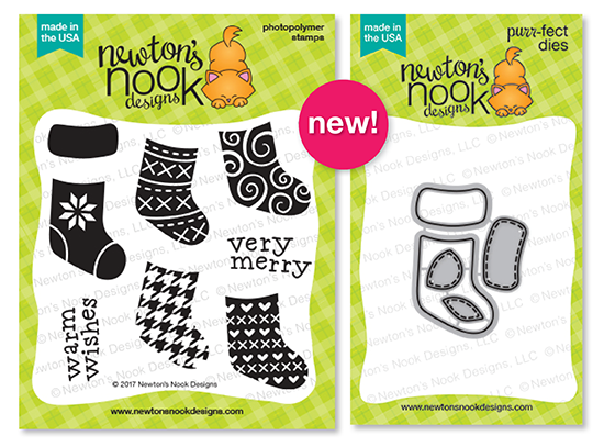 Holiday Reveals - Day 3 - Stylish Stockings 4x4 Stamp set  and coordinating Die Set by Newton's Nook Designs #newtonsnook