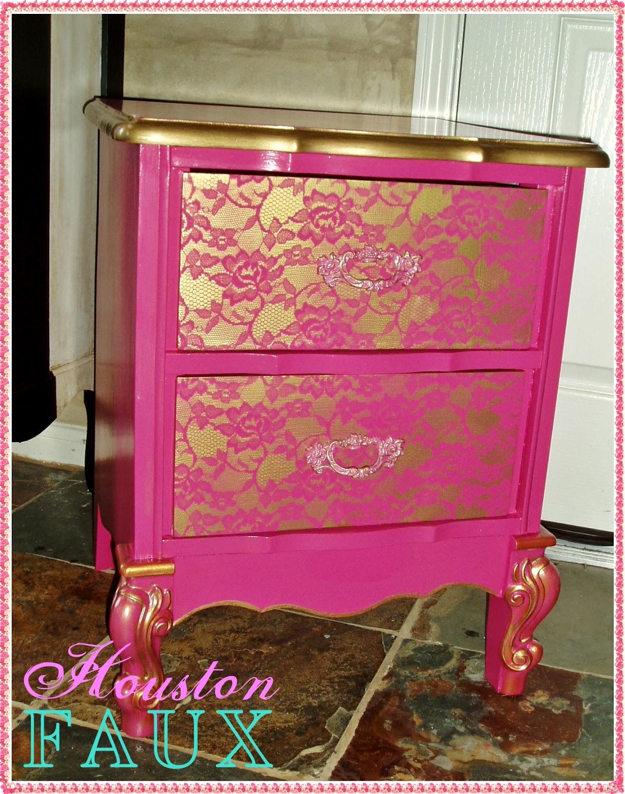 Faux Painting  Furniture Victorias Secret Boudoir Style