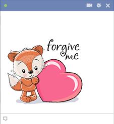 Forgive Me Fox Emoji