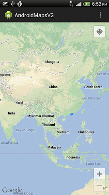 Display my location on Google Maps Android API v2
