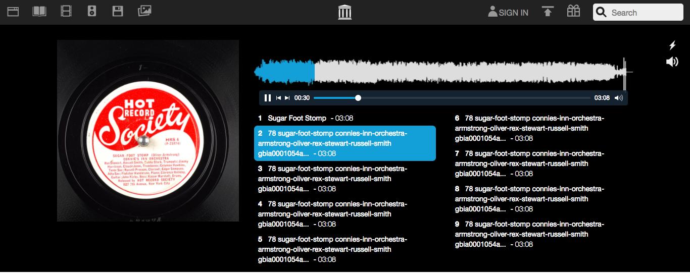25000 張百年前骨董黑膠唱片的數位錄音檔案,免費聆聽下載