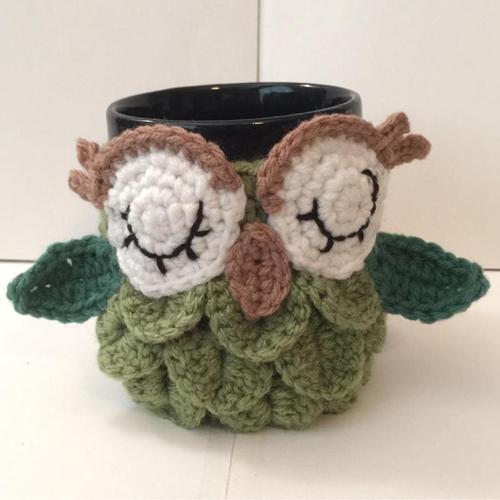 Owl Mug Cozy - Free Pattern