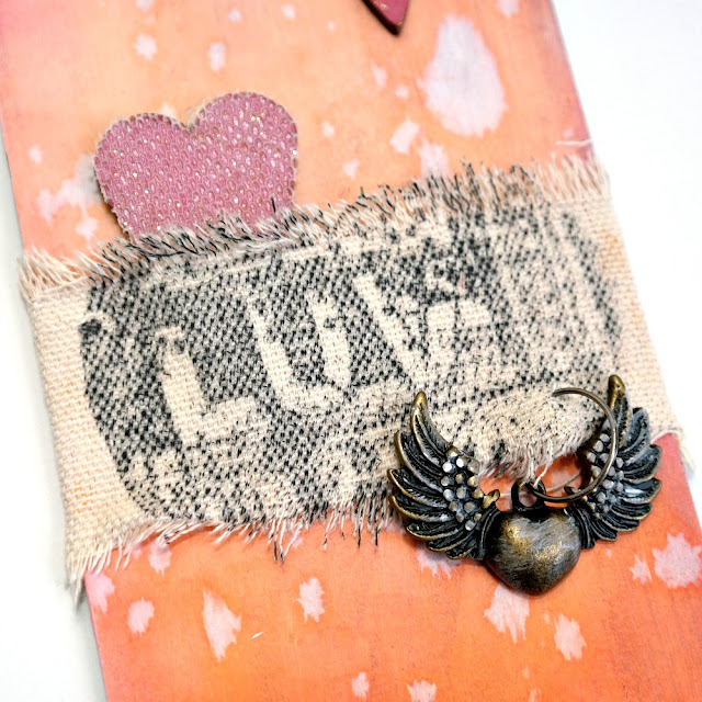 Stamped Canvas Sentiment on a Love Tag for Valentine's Day by Dana Tatar