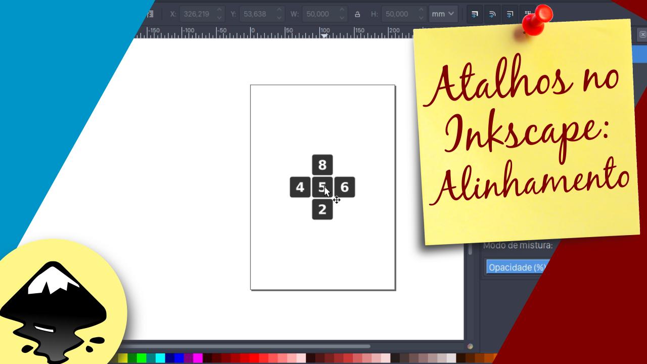 Alinhamento com atalhos de teclado no Inkscape - Diário de Bordo