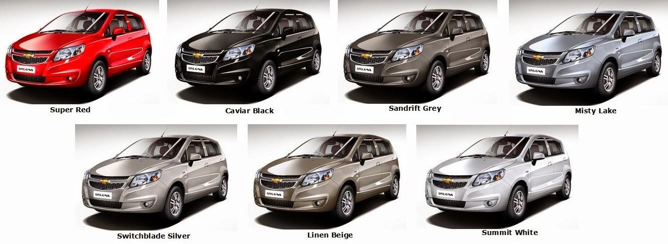 Chevrolet Sail U-VA colours - Automobile Planet