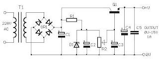 Skema Rangkaian Power Supply 0 - 15 Volt