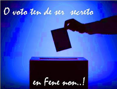En Fene, o voto non foi secreto