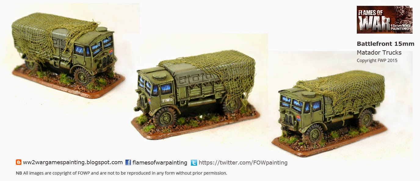 WW2 British tanks Painted- Matador truck by FOWP flames of war painting