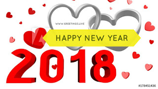 Two loving hearts in 2018 New Year Picture Messages