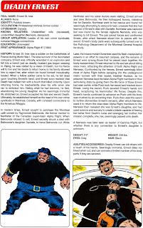 Mortal Ernest Comics Ficha
