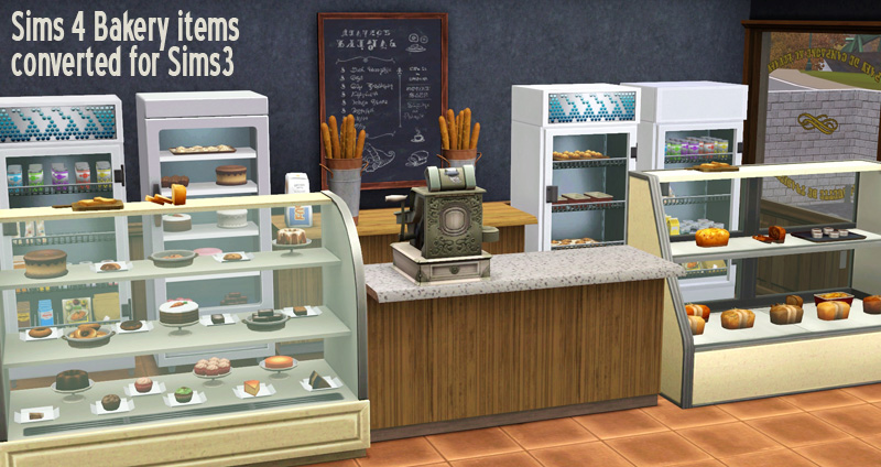 My Sims 3 Blog Ts4 Bakery Items Conversions By Sandy