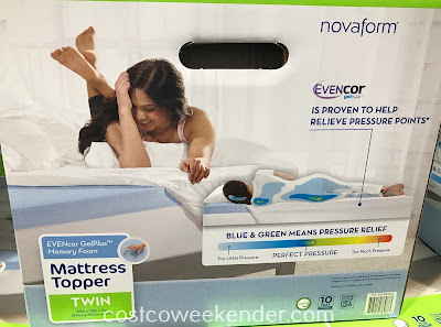 Costco 8816224 - EVENcor Gel-Plus Memory Foam Mattress Topper (Twin): comfortable and providing more of a cushion