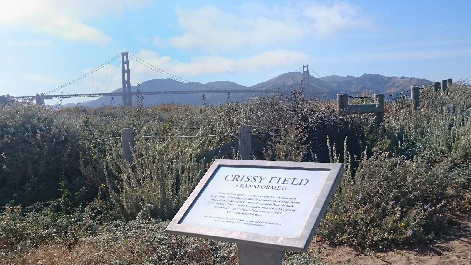 Crissy Field Golden Gate Bridge