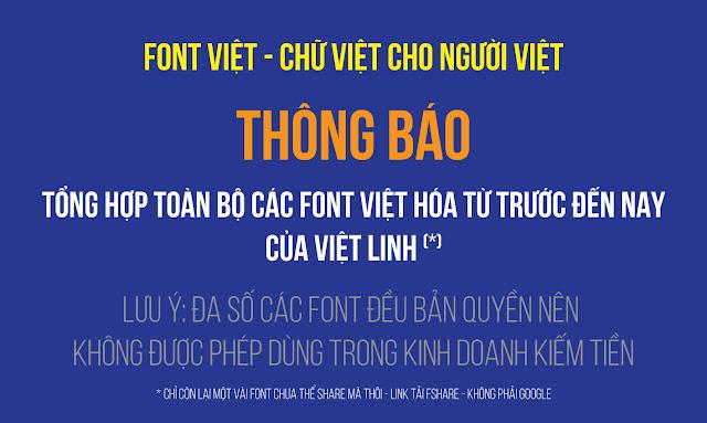 Bộ font chữ của Việt Linh