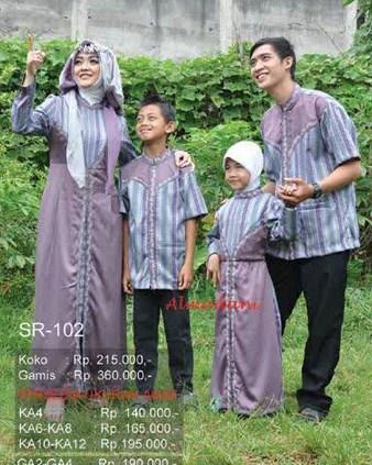 Model Gamis Muslim Couple Keluarga Terbaru