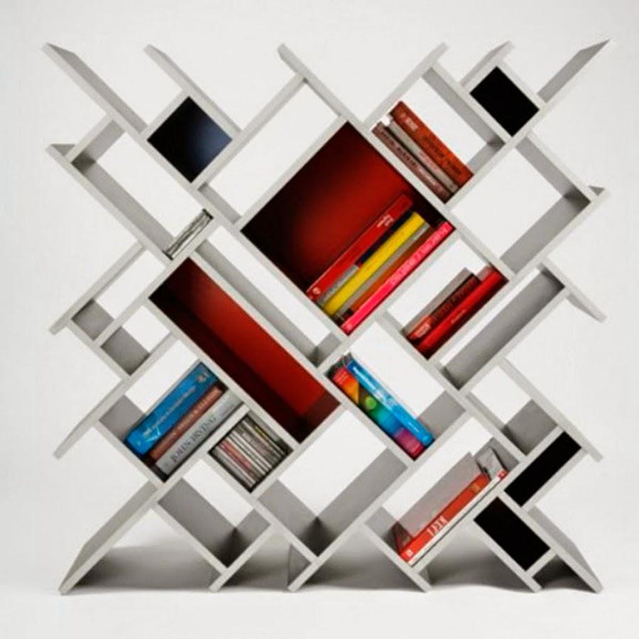 Los mil libros 10 libreros modernos que querr s tener for Libreros modernos