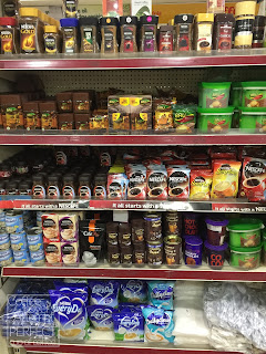 Supermarket in India Coffee Section - a lot of instants...