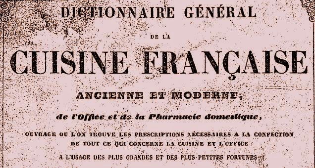 dictionnaire de cuisine française