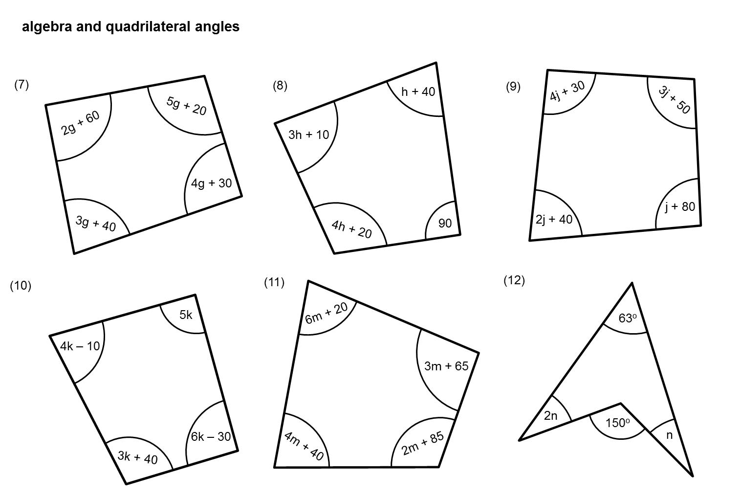Median Don Steward Mathematics Teaching Angles With Algebra
