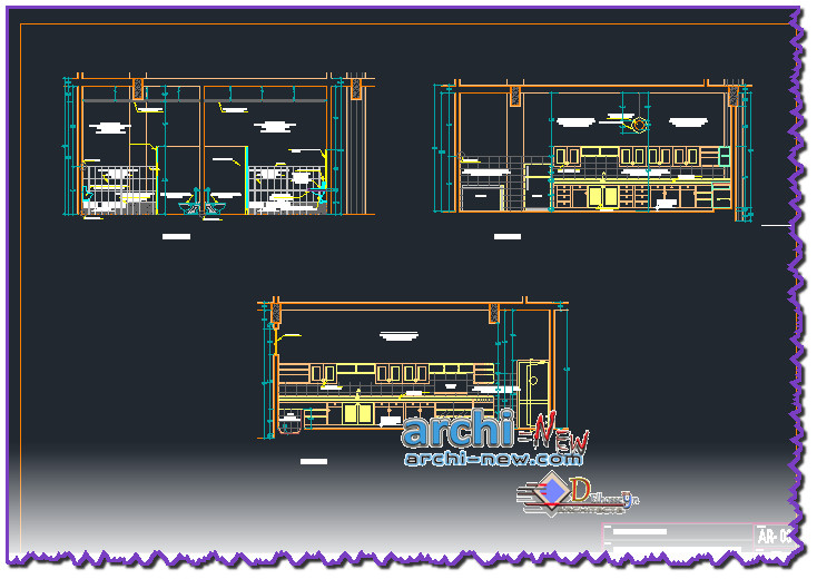 En Download Autocad Dwg 3d File To Autocad Development And Public Restroom Kitchen Category