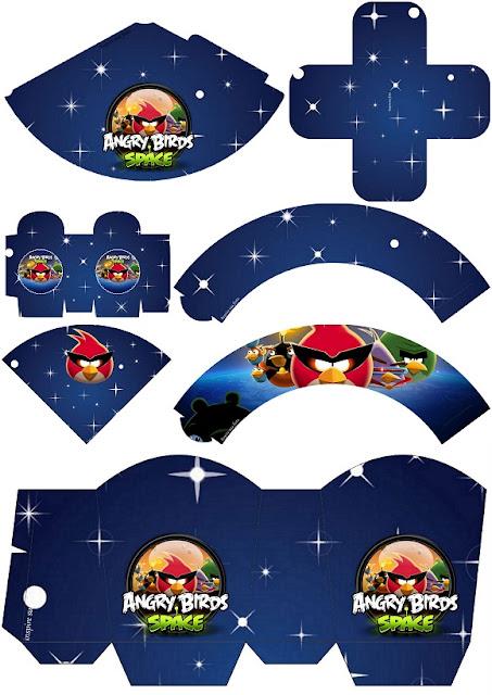 Angry Birds en el Espacio: Imprimibles para Fiestas y Cajas para Imprimir Gratis.