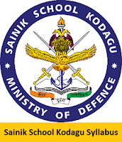 Sainik School Kodagu Syllabus