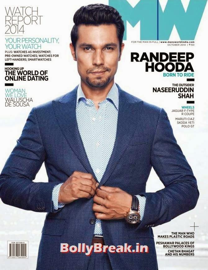 Randeep Hooda, Bollywood Actors Hot & Sexy Pics on Magazine Covers