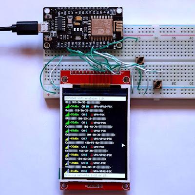 WiFi Analyzer with ESP8266 and ILI9341 LCD