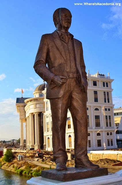 Monument at Art Bridge - Skopje, Macedonia