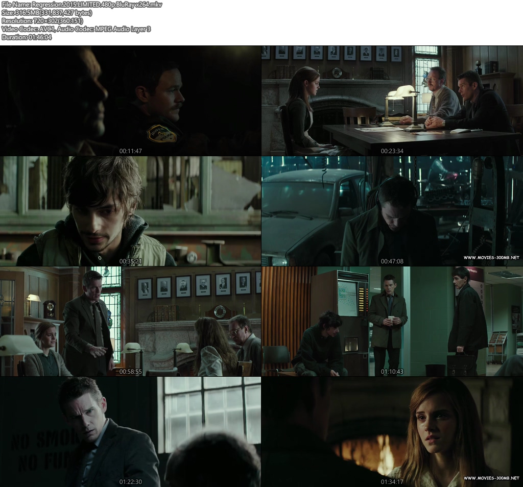 Regression 2015 LIMITED 480p BluRay 300MB x264 Screenshot