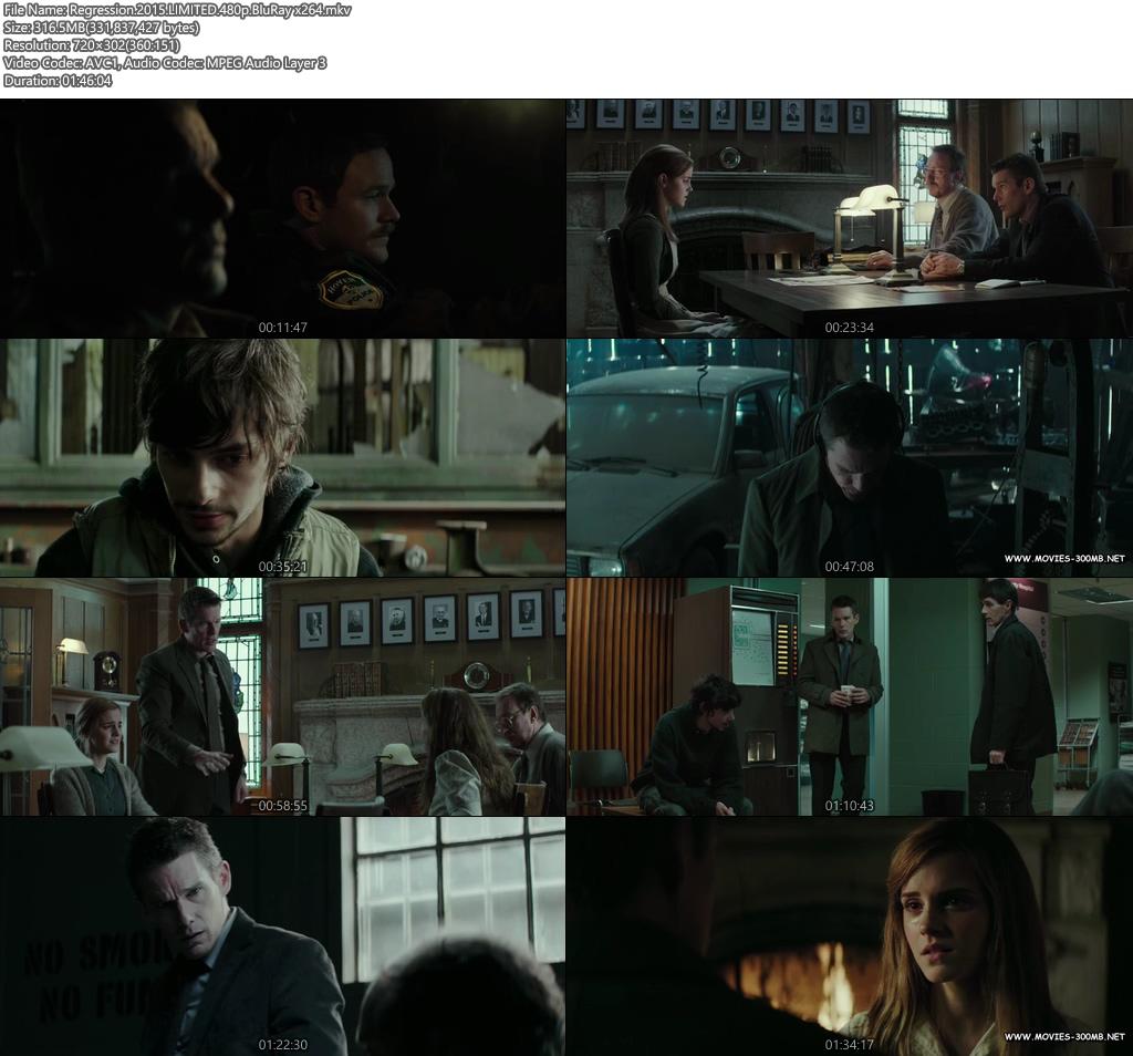 Regression 2015 LIMITED 480p BluRay 300MB x264 Screenshot