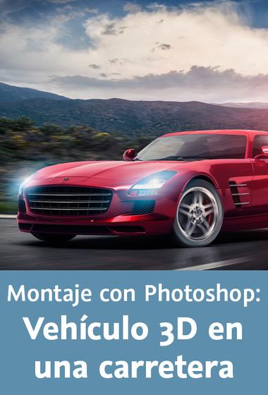 Video2Brain: Montaje con Photoshop – Vehículo 3D en una carretera