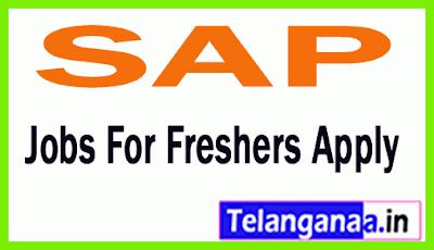 SAP Recruitment Jobs For Freshers Apply