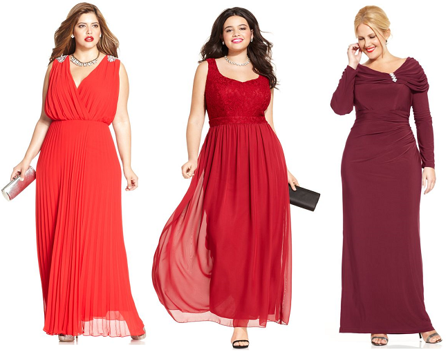 Red evening dresses for plus size