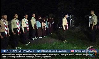 Penggemblengan untuk naik tingkat ini dilakasanakan di Lapangan Purda Gempita Nangerang Desa Cicukang Kecamatan Purabaya, Sabtu (5/1).