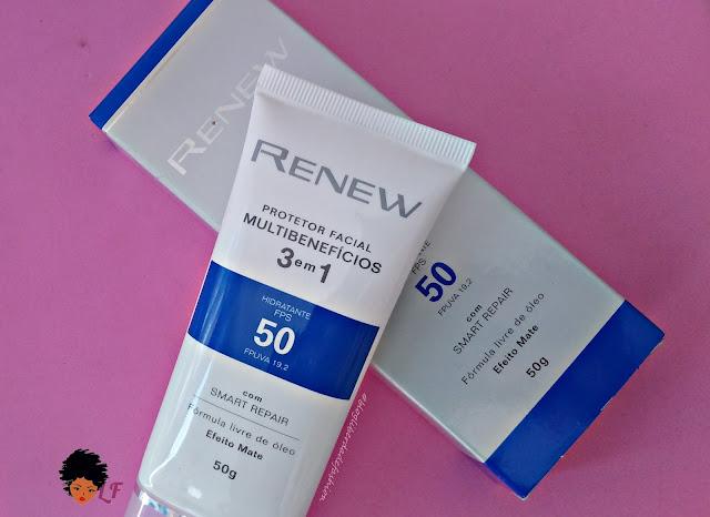 Protetor Facial Renew Multibenefícios FPS50 Avon