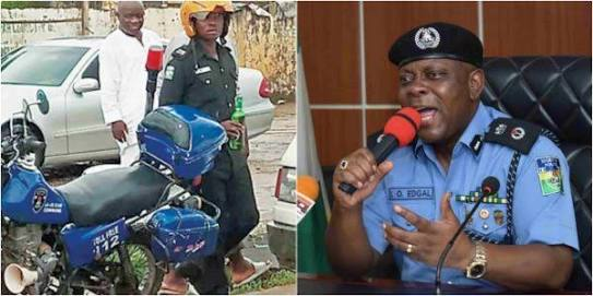 Lagos Policeman Seen With A Bottle Of Beer In Public Arrested