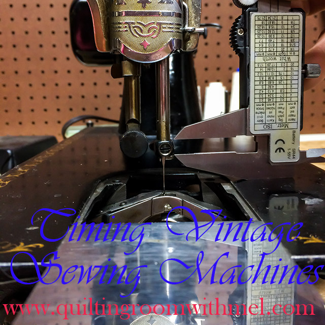 how to time vintage sewing machines