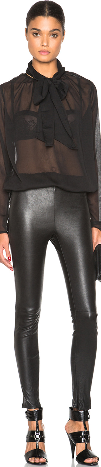 Saint Laurent Leather Leggings