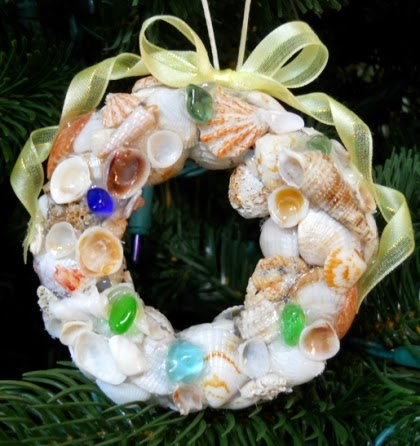 seashell wreath Christmas